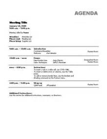 business meeting agenda template business agenda