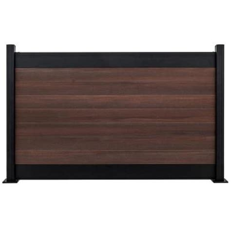 home depot fence sections veranda euro style black top 6 ft x 4 ft king cedar