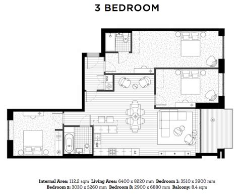 floor plan for 3 bedroom flat royal wharf showflat viewing hotline 65 9798 1200showflat viewing