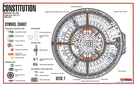 uss enterprise floor plan deck 7 constitution class star trek tech pinterest