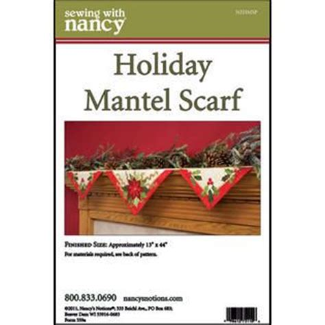 pattern for christmas mantel scarf holiday mantel scarf pattern fabric and sewing pinterest
