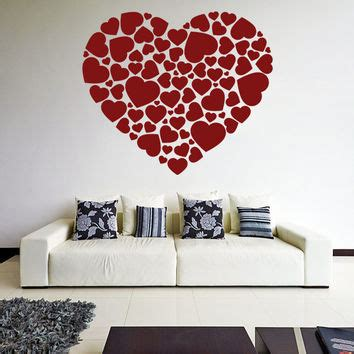 little hearts wall stickers wall decals removable home vinyl wall decal hearts in a heart shape from