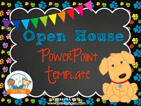 open house powerpoint template open house powerpoint pre k pages