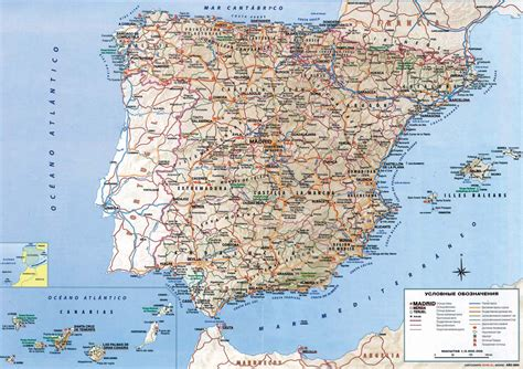 printable road map of europe detailed road map of spain spain detailed road map
