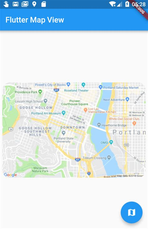flutter map view  geolocation essence extracted
