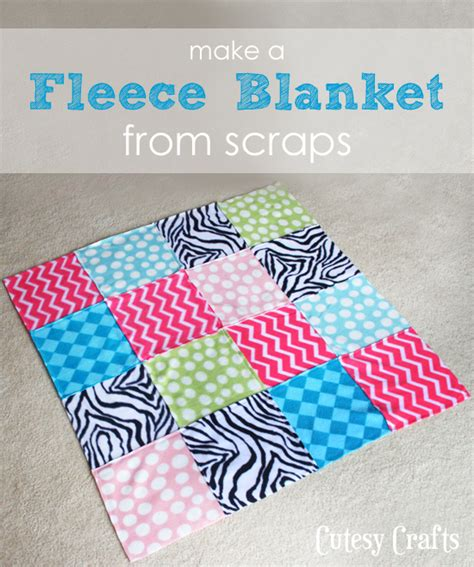 how to make fleece blankets from scraps cutesy crafts