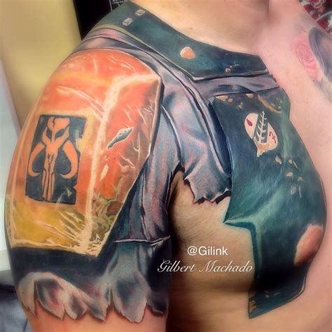 star rose tattoo boba fett wars color tattoos inked armor