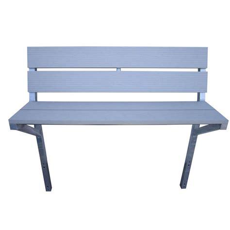 bench kits home depot patriot docks 4 ft aluminum bench kit in gray 10837 the