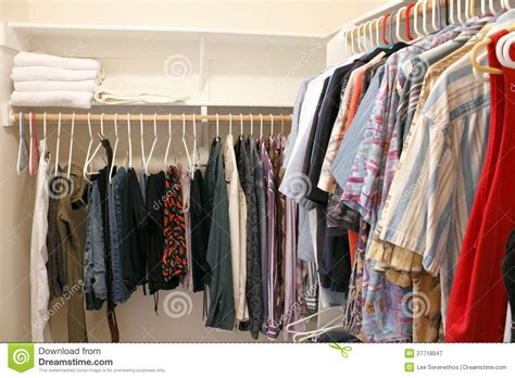 clothes in a closet royalty free stock photography image