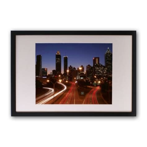 11 X 14 Frame With 8 X 10 Mat by 11x14 Black Satin Frame With 8x10 White Mat Paperstyle