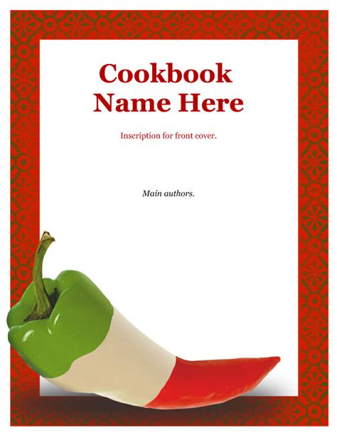 cookbook cover template mexican cookbook front cover software template