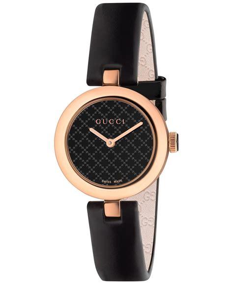 gucci s swiss dimantissima black leather