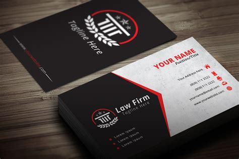 Lawyer Business Card Templates attorney business card template modern blank