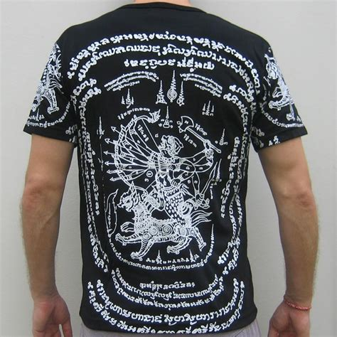 Siam Shade T Shirt 012 thai hanuman singha sak yant magic siam biker t