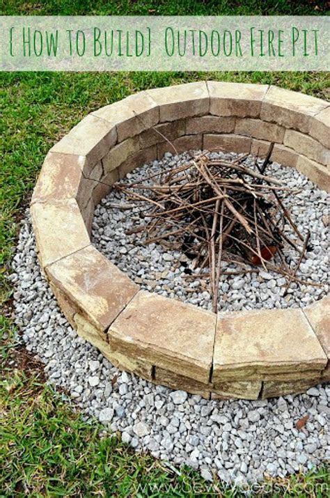 Best Backyard Diy Projects Clean And Scentsible How To Build A Backyard Firepit