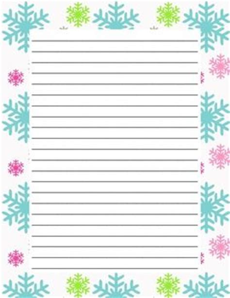 snowflake writing template writing paper winter colorful snowflakes snowflakes