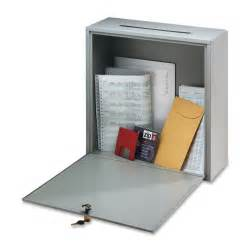 new steel slotted drop box small mailbox locking office