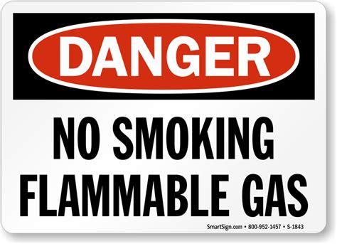 fuel storage no smoking sign osha danger sku s 1846 durable no smoking flammable gas danger sign osha