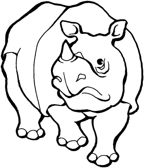 Free Rhino Coloring Pages Rhino Coloring Page