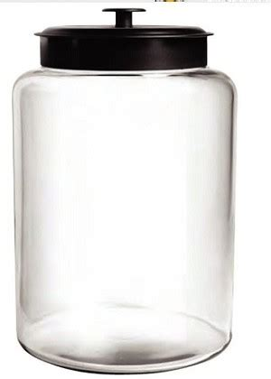 gallon large montana glass jar wlid  containers