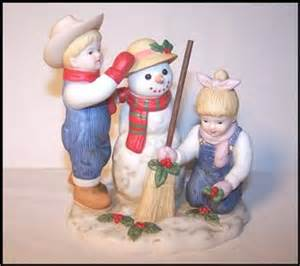 home interior denim days figurines homco home interiors denim days quot time snowman
