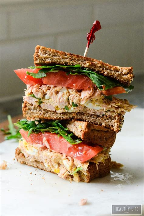 yellowfin tuna salad sandwich  healthy life