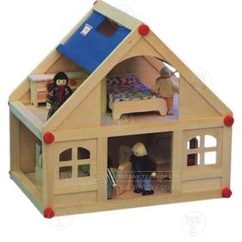 small doll house small wooden dolls house with furniture and doll family new