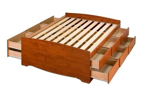 prepac 12 drawer platform storage bed in cherry cbq 6212 k new ebay