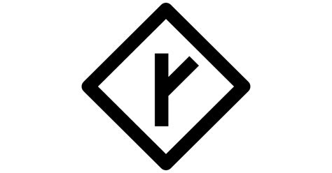 Y Intersection Sign - Free Maps and Flags icons Y Intersection Sign