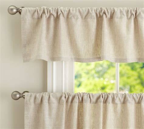Pottery Barn Kitchen Curtains Emery Linen Cafe Curtain Pottery Barn For The Kitchen For The Home The O Jays