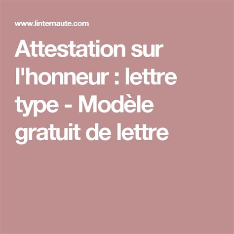 Exemple De Lettre Qui Certifie Sur L Honneur Les 25 Meilleures Id 233 Es De La Cat 233 Gorie Modele Lettre Gratuit Sur Modele De Lettre