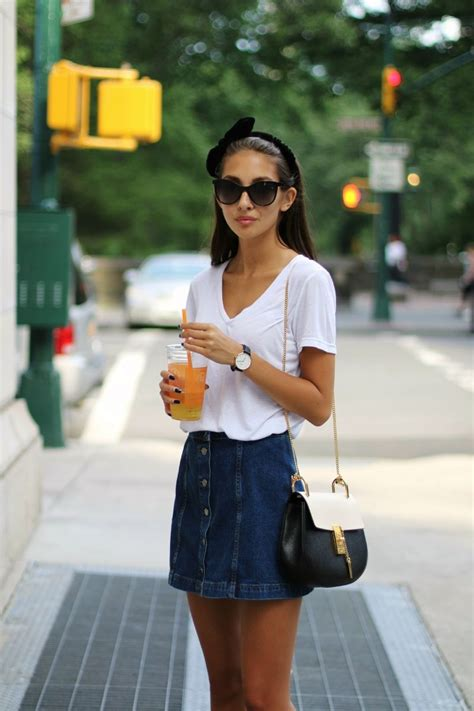 Style On The Go by Best 25 White Denim Skirt Ideas On Black Cami