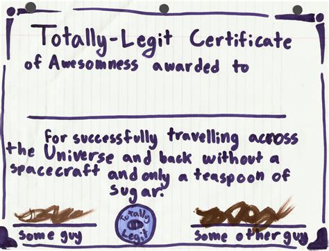 certificate of awesomeness by viricyoshi on deviantart