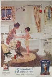 Shower Faucet Sale Standard Plumbing Fixtures Bathroom Ad Vintage 1920s Good