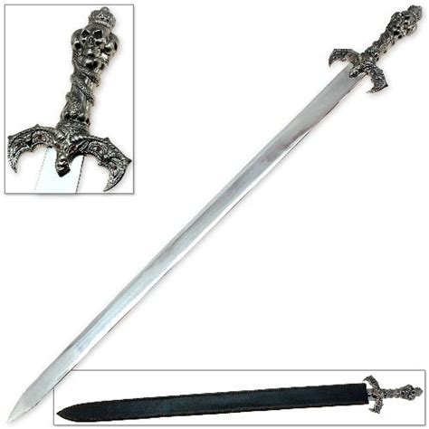 Hunting And Fishing Home Decor by Skull King Demonic Fantasy Sword Swords Of Might