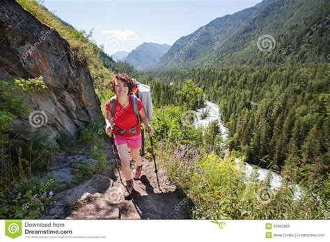 russian mountain hiker in altai mountains russian federation stock image image 33962983
