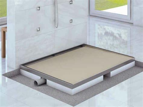 box doccia prefabbricati sistema drenante prefabbricato per doccia filopavimento ad