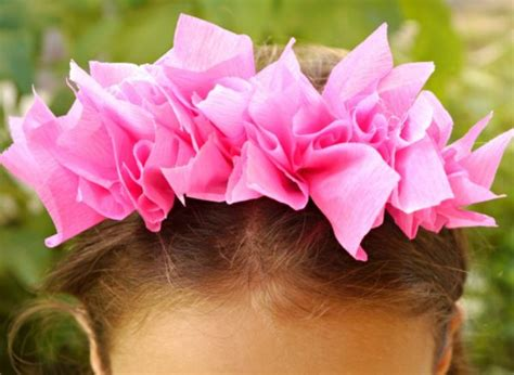 How To Make A Headband Out Of Paper - diy tissue paper headband make and takes