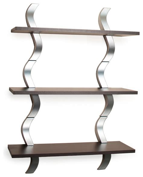 waves 3 level shelving system display and