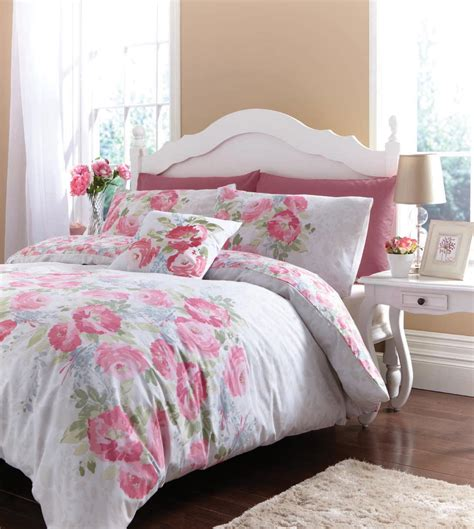 Flowered Comforters by Floral Bedding Bed Linen Discount Duvet Cover Set Ebay