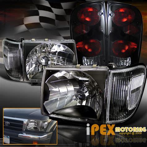 2000 Toyota Tacoma Headlights 1998 2000 Toyota Tacoma 4wd Black Headlight W Corner
