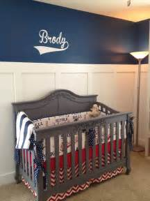 Vintage Baseball Crib Bedding Mitchell S One Year Forever To Go Brody S Nursery Bringing Vintage Baseball Back