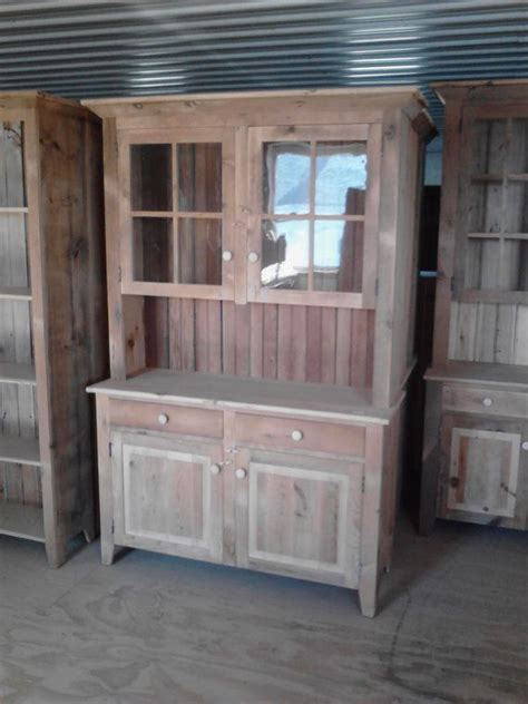 Kitchen China Cabinet Hutch Reclaimed Barn Wood Kitchen Dining Hutch China Cabinet
