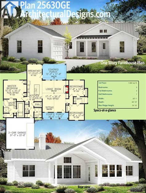 One Story Farmhouse Plans by 25 Best Ideas About One Story Houses On Pinterest One