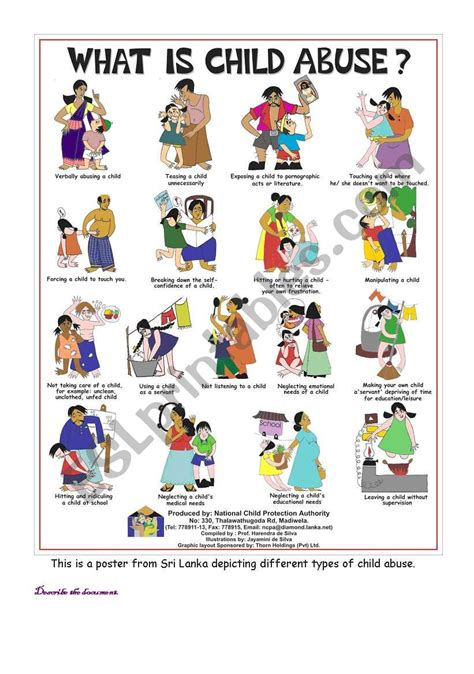 what is child abuse esl worksheet by kpmc