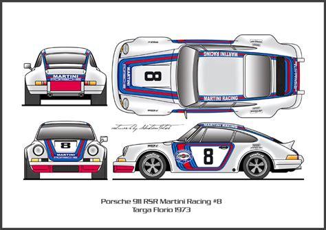 Porsche 911 Martini Racing Aufkleber by Porsche Rsr Decals Martini Modelcarforum