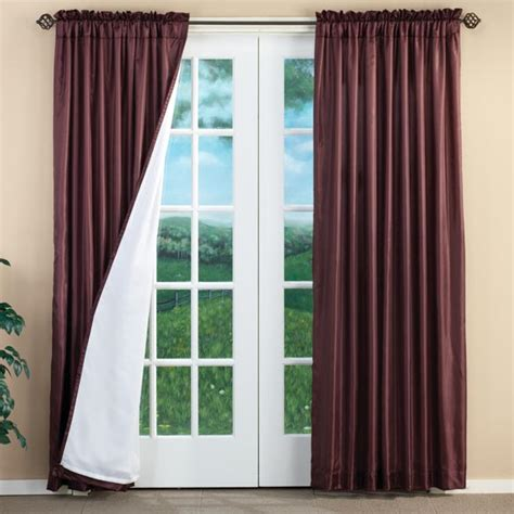 energy saver curtains cypress 3 layer energy saving curtains set of 2 energy