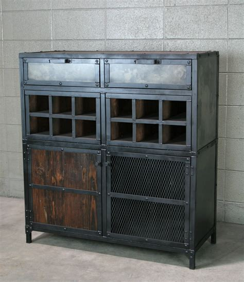 Liquor Storage Cabinet Industrial Liquor Cabinet Bar Cart With Wine Storage