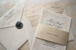 floral letterpress wedding invitations onewed