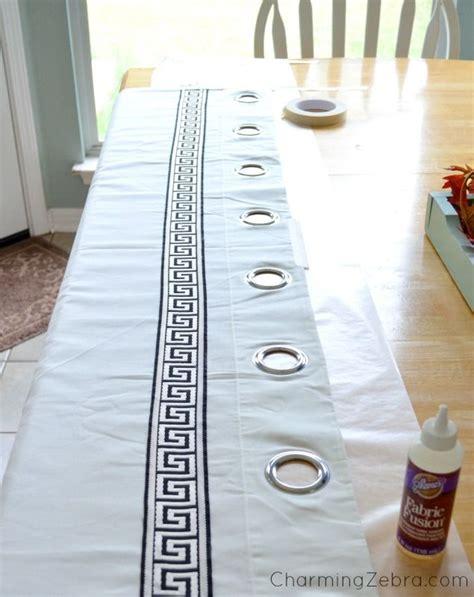 plain white curtains ikea ikea drapes with added greek key trim i taped a length of